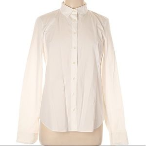 J. Crew White Button Up Blouse